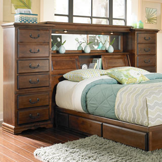 Alder Hardwood Bedroom Furniture Alder Hill Mid Wall American Made