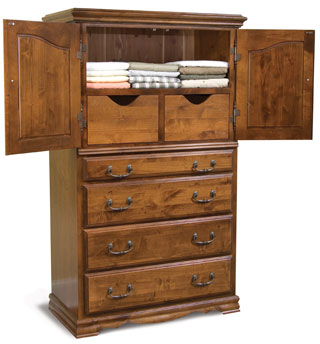 Alder Hardwood Bedroom Furniture Alder Hill Treasure Chest American Made