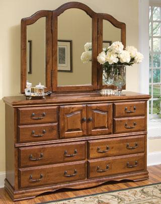Alder Hardwood Bedroom Furniture 10 Drawer Dresser