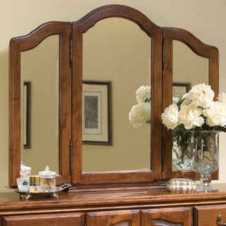 Dresser Mirror with Jewelry Compartment