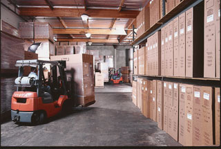 Warehouse of stocked inventory